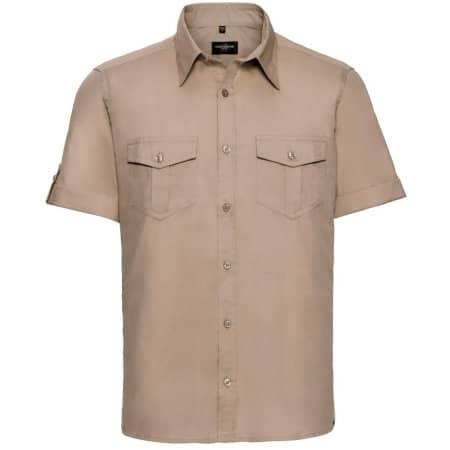 Men`s Roll Short Sleeve Twill Shirt von Russell Collection (Artnum: Z919