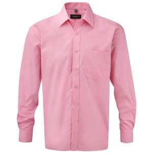Men`s Long Sleeve Pure Cotton Poplin Shirt