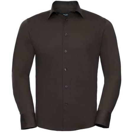 Men`s Long Sleeve Fitted Shirt von Russell Collection (Artnum: Z946
