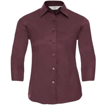 Ladies` 3/4 Sleeve Fitted Shirt von Russell Collection (Artnum: Z946F