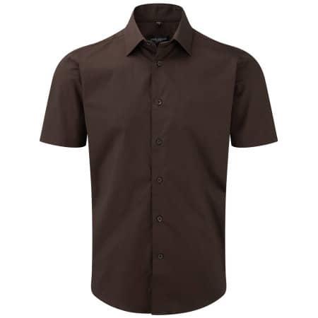 Men`s Short Sleeve Fitted Shirt von Russell Collection (Artnum: Z947