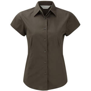 Ladies` Short Sleeve Fitted Shirt