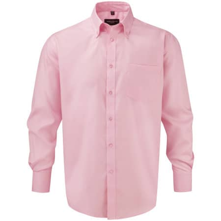 Men`s Long Sleeve Ultimate Non-Iron Shirt von Russell Collection (Artnum: Z956