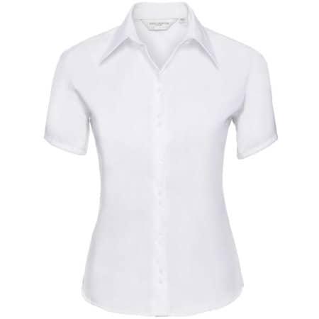 Ladies` Short Sleeve Ultimate Non-Iron Shirt in White von Russell Collection (Artnum: Z957F