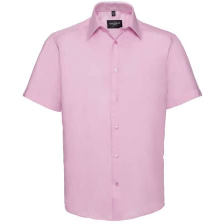 Men`s Short Sleeve Tailored Ultimate Non-Iron Shirt von Russell Collection (Artnum: Z959