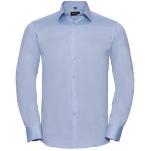 Men`s Long Sleeve Herringbone Shirt