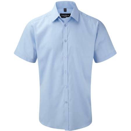 Men`s Short Sleeve Herringbone Shirt von Russell Collection (Artnum: Z963