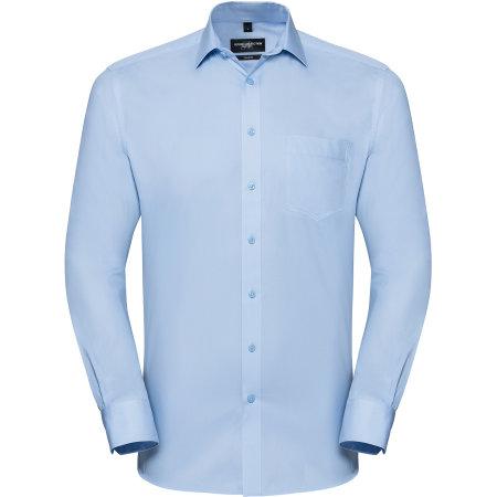 Men`s Long Sleeve Tailored Coolmax® Shirt von Russell Collection (Artnum: Z972