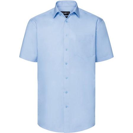 Men`s Short Sleeve Tailored Coolmax® Shirt von Russell Collection (Artnum: Z973
